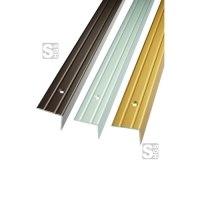 Treppenkantenprofil aus Aluminium, profiliert, Winkelmaß 25 x 20 mm, Länge 1000 oder 2700 mm