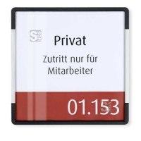 Türschild -Signcode- aus Aluminium und Kunststoff