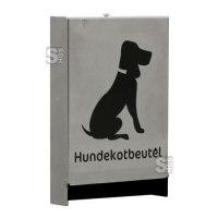 Tütenspender -Given- für Hundekotentsorgung, aus Edelstahl, zur Wand- oder Mastbefestigung