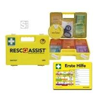 Verbandkoffer -Resc-Q-Assist-, zur Schnellhilfe, mit Farbleitsystem und passendem Aushang