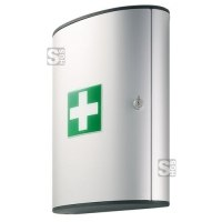 Verbandschrank -First Aid Box- aus Aluminium, mit Inhalt nach DIN 13157, 300 x 400 x 118 mm
