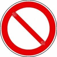 Verbotsschild, Allgemeines Verbotszeichen