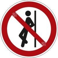 Verbotsschild, Anlehnen verboten
