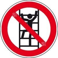 Verbotsschild, Aufsteigen verboten