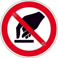Verbotsschild, Berühren verboten