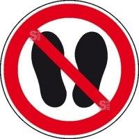 Verbotsschild, Betreten der Fläche verboten