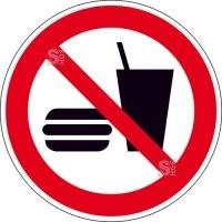 Verbotsschild, Essen und Trinken verboten