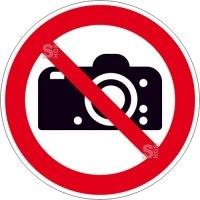 Verbotsschild, Fotografieren verboten