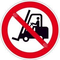 Verbotsschild, Für Flurförderzeuge verboten