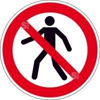 Verbotsschild, Für Fußgänger verboten