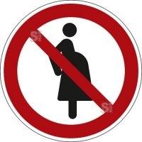 Verbotsschild, Für Schwangere verboten