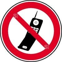 Verbotsschild, Handy benutzen verboten
