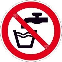 Verbotsschild, Kein Trinkwasser