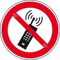 Verbotsschild, Mobilfunk verboten