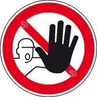 Verbotsschild -Zutritt für Unbefugte verboten-