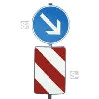 Verkehrsleitsäule, konvexe Form (hinten offen), Alform
