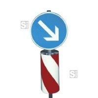 Verkehrsleitsäule, runde Form