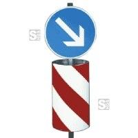 Verkehrsleitsäule, zylindrisch-elliptische Form
