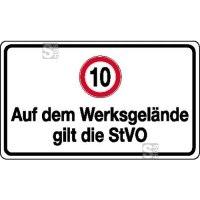 Verkehrsschild, Auf dem Werksgelände gilt die StVO