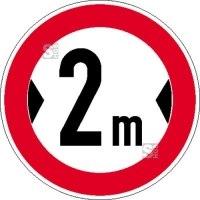 Verkehrsschild, Verbot für Fahrzeuge über eine bestimmte Breite (individuelle Breitenangabe)