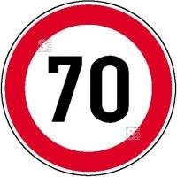 Verkehrsschild, Zulässige Höchstgeschwindigkeit (individuelle Geschwindigkeit nach Angabe)