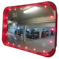 Verkehrsspiegel Vialux®, LED-Beleuchtung, für Innenbereich