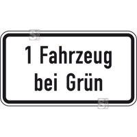 Verkehrszeichen StVO, 1 Fahrzeug bei Grün, Nr. 1012-38