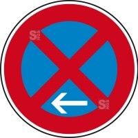 Verkehrszeichen StVO, Absolutes Haltverbot Ende (Linksaufstellung), Nr. 283-11
