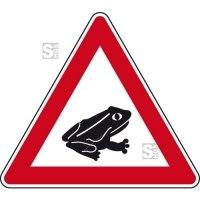 Verkehrszeichen StVO, Amphibienwanderung, Aufstellung links Nr. 101-24