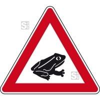 Verkehrszeichen StVO, Amphibienwanderung, Aufstellung links Nr. 145-25