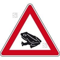 Verkehrszeichen StVO, Amphibienwanderung, Aufstellung rechts Nr. 101-14