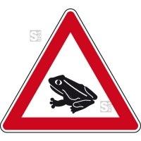Verkehrszeichen StVO, Amphibienwanderung, Aufstellung rechts Nr. 145-15