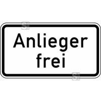Verkehrszeichen StVO, Anlieger frei Nr. 1020-30