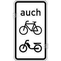 Verkehrszeichen StVO, Auch Fahrräder und Mofas Nr. 1061-10