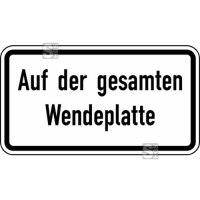 Verkehrszeichen StVO, Auf der gesamten Wendeplatte Nr. 2423