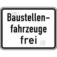 Verkehrszeichen StVO, Baustellenfahrzeuge frei Nr. 1028-30