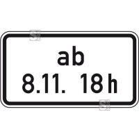 Verkehrszeichen StVO, Beschränkung ab einem bestimmten Zeitpunkt, Nr. 1040-34
