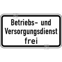 Verkehrszeichen StVO, Betriebs- und Versorgungsdienst frei Nr. 1026-39