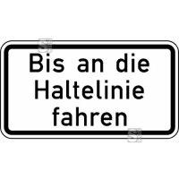 Verkehrszeichen StVO, Bis an die Haltelinie fahren Nr. 2802