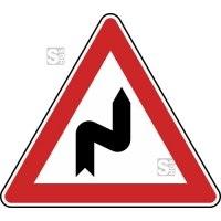 Verkehrszeichen StVO, Doppelkurve (zunächst rechts) Nr. 105-20