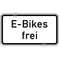 Verkehrszeichen StVO, E-Bikes frei Nr. 1026-63