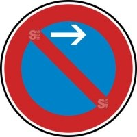 Verkehrszeichen StVO, Eingeschränktes Haltverbot Anfang (Linksaufstellung), Nr. 286-21