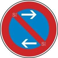 Verkehrszeichen StVO, Eingeschränktes Haltverbot Mitte (Linksaufstellung), Nr. 286-31