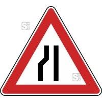 Verkehrszeichen StVO, Einseitig verengte Fahrbahn, Verengung links Nr. 121-20