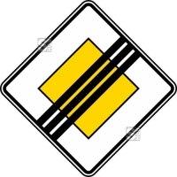 Verkehrszeichen StVO, Ende der Vorfahrtstraße Nr. 307