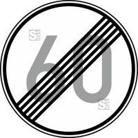 Verkehrszeichen StVO, Ende der zulässigen Höchstgeschwindigkeit (Wunschangabe) Nr. 278-