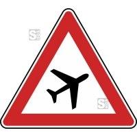 Verkehrszeichen StVO, Flugbetrieb, Aufstellung links Nr. 145-21