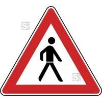 Verkehrszeichen StVO, Fußgänger (Aufstellung links) Nr. 133-20