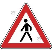 Verkehrszeichen StVO, Fußgänger (Aufstellung rechts) Nr. 133-10