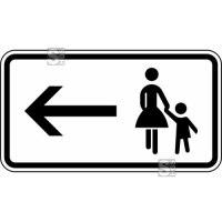 Verkehrszeichen StVO - Fußgänger Gehweg links gegenüber benutzen Nr. 1000-12
